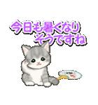 梅雨~夏 もこもこ猫ちゃんズ(個別スタンプ:22)