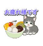 梅雨~夏 もこもこ猫ちゃんズ(個別スタンプ:34)