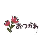 大人の女性♡お花のコンパクトスタンプ(個別スタンプ:7)