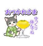 甚平さん猫ちゃんズ(個別スタンプ:6)