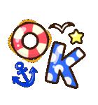 夏の日常♡デカ文字スタンプ(個別スタンプ:1)
