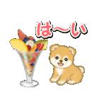 赤ちゃん豆柴と夏スイーツ(個別スタンプ:1)