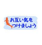 省スペース♪涼しい金魚スタンプ(個別スタンプ:12)