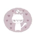 ♡白い動物達♡毎日スタンプ♡(個別スタンプ:19)