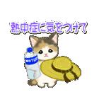 夏~秋 もこもこ猫ちゃんズ(個別スタンプ:7)
