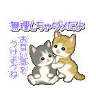 夏~秋 もこもこ猫ちゃんズ(個別スタンプ:32)