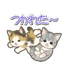 夏~秋 もこもこ猫ちゃんズ(個別スタンプ:40)