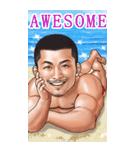 筋肉ひげマッチョBIGスタンプ~英語~(個別スタンプ:34)