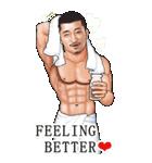 筋肉ひげマッチョBIGスタンプ~英語~(個別スタンプ:39)