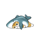 動く!サメにゃん(個別スタンプ:22)