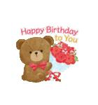 誕生日&お祝い*大人上品なお花スタンプ(個別スタンプ:4)