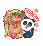 BROWN & FRIENDS : 日本のお祝いと新年(個別スタンプ:2)