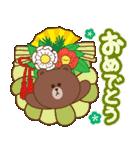 BROWN & FRIENDS : 日本のお祝いと新年(個別スタンプ:4)