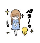 BROWN & FRIENDS×滝永さるりの女の子(個別スタンプ:16)