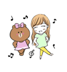 BROWN & FRIENDS×滝永さるりの女の子(個別スタンプ:18)