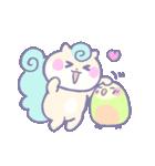 リスの松子とインコのミーバウ(個別スタンプ:3)