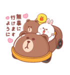 BROWN & FRIENDS : 幸せなパステルカラー(個別スタンプ:38)