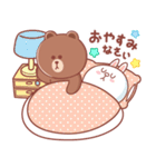BROWN & FRIENDS : 幸せなパステルカラー(個別スタンプ:40)