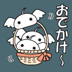 [LINEスタンプ] ハネスラちゃんのまったり日和