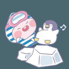 [LINEスタンプ] アピーチと南極へ行こう!