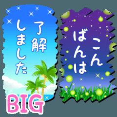 [LINEスタンプ] BIG★大人のビーチリゾート2