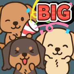 [LINEスタンプ] ほのぼのダックス日和♪(BIG)