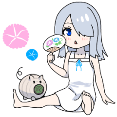 [LINEスタンプ] 西念幽子さんスタンプ第5弾!「夏」