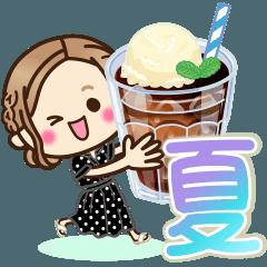[LINEスタンプ] 大人女子の日常【夏・気づかい】