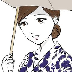 [LINEスタンプ] おかみさんスタンプ【浴衣で日常のご挨拶】