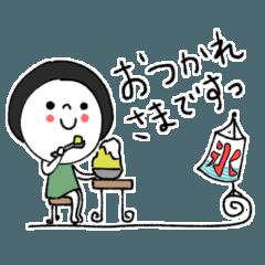 [LINEスタンプ] 黒髪のレト子☆毎日使える