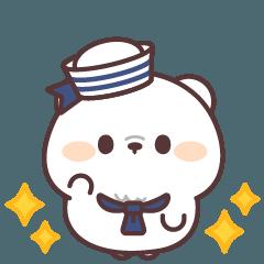 [LINEスタンプ] 動く♪シロクマくんの夏スタンプ