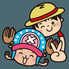 [LINEスタンプ] ぷにぷに★ONE PIECE