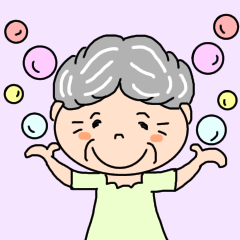 [LINEスタンプ] ちょっとのんびりおばあちゃんの日常会話