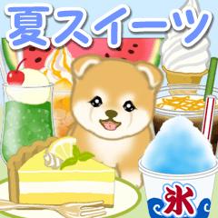 [LINEスタンプ] 赤ちゃん豆柴と夏スイーツ