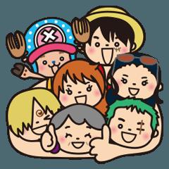 [LINEスタンプ] ★ばぁば × ONE PIECE★