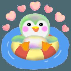 [LINEスタンプ] 毎日使える「ペンギンpempem」夏