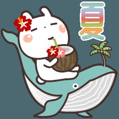 [LINEスタンプ] うさぎの大人可愛いスタンプ♥夏♥