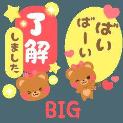 [LINEスタンプ] BIG大きな文字のほぺくまデカ文字日常会話