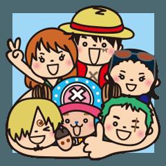 [LINEスタンプ] ぷにぷに★ONE PIECE (2)