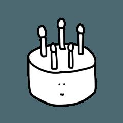 [LINEスタンプ] 雑なスタンプ 誕生日(自分の)