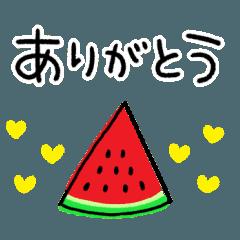 [LINEスタンプ] 毎年使える☆夏のシンプルスタンプ