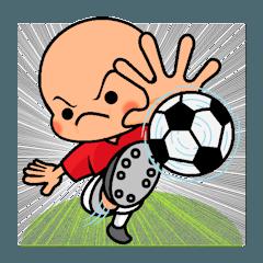 [LINEスタンプ] スポーツシリーズNo.2 サッカー選手