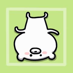 [LINEスタンプ] 静かな☆クマ