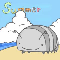 [LINEスタンプ] ダンゴムシのジョニー stamp (夏編)