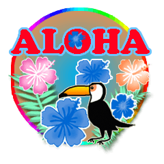 [LINEスタンプ] ハワイdeアロハ【毎日使えるスタンプ】