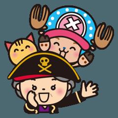 [LINEスタンプ] ★海賊ばぁば × ONE PIECE★