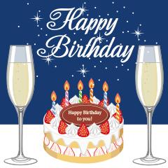 [LINEスタンプ] 【 動く 大人の誕生日 お祝い 】