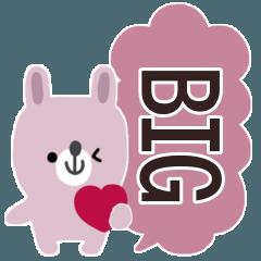 [LINEスタンプ] ちびうさちゃん◎BIG吹き出し #1