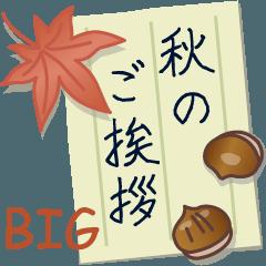 [LINEスタンプ] 秋のご挨拶【BIG】