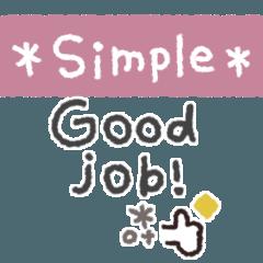 [LINEスタンプ] simple*省スペース #4